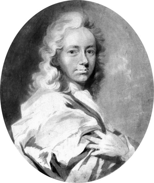 Philipp von Zesen (1619-1689)  *drawing  *pencil and brush *c. 1700